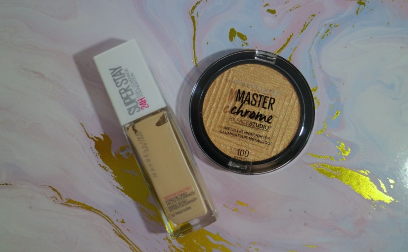 New Purchases! Maybelline Super Stay Foundation & Master Chrome Highlighter